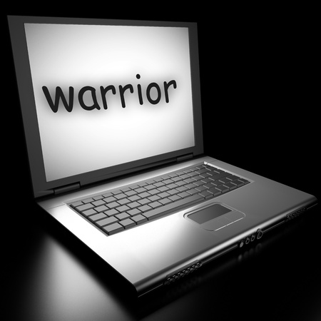 Word on laptop made in 3D Stock Photo - 13046540