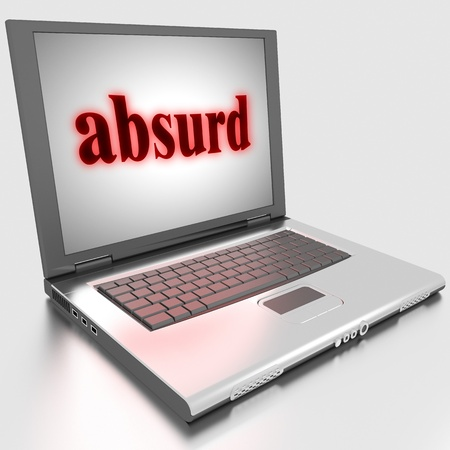 digital compose: Word on laptop made in 3D
