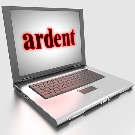 Word on laptop made in 3D