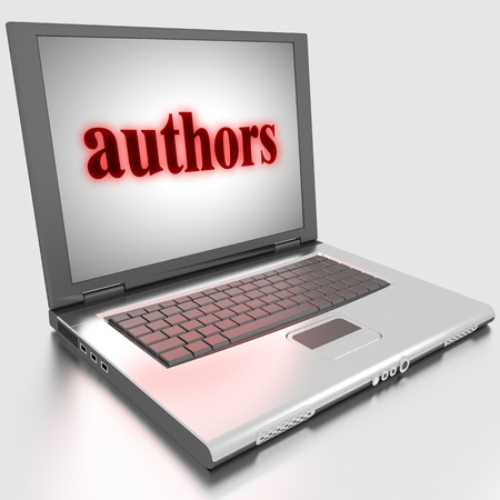 Word on laptop made in 3D Stock Photo - 13371283