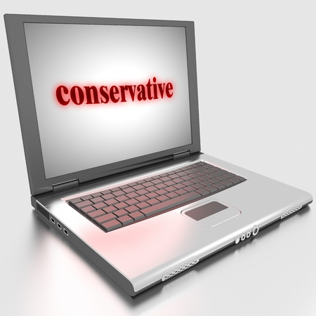 Word on laptop made in 3D Stock Photo - 13375054