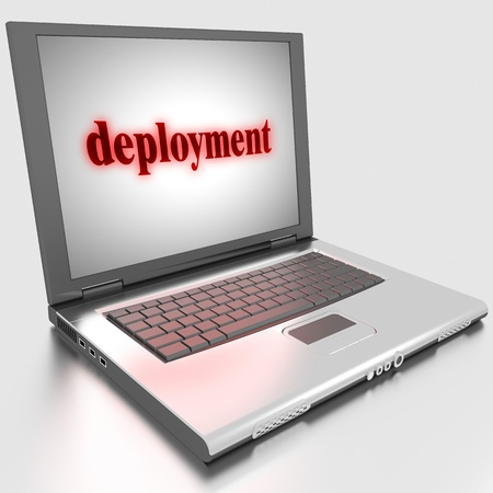 deployment: Word on laptop made in 3D