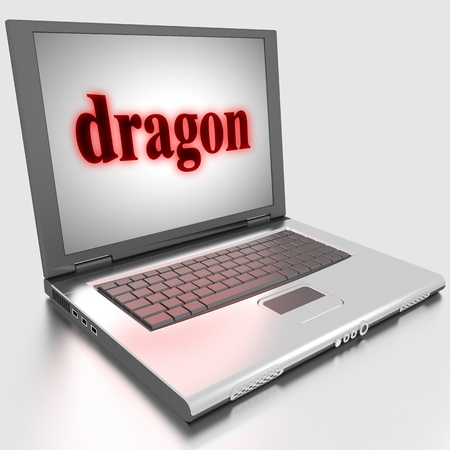 Word on laptop made in 3D photo