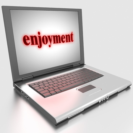Word on laptop made in 3D Stock Photo - 13379664