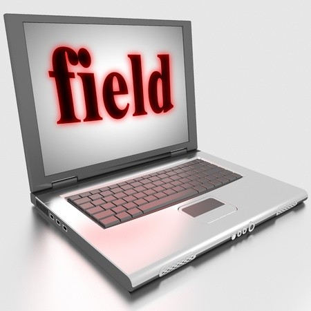 Word on laptop made in 3D Stock Photo - 13434301