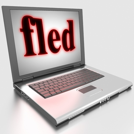 fled: Word on laptop made in 3D