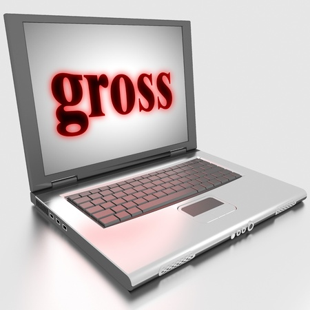 Word on laptop made in 3D Stock Photo - 13422904