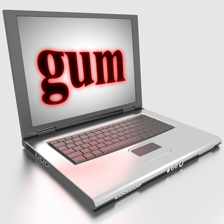 Word on laptop made in 3D Stock Photo - 13422266
