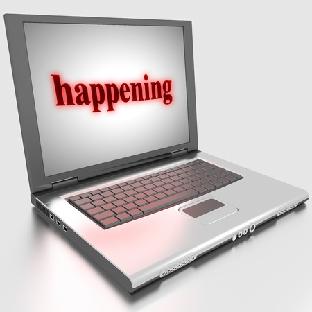 Word on laptop made in 3D Stock Photo - 13379901