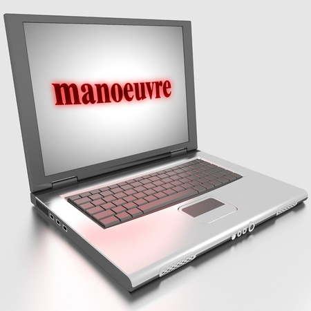 Word on laptop made in 3D Stock Photo - 13374919