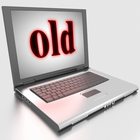 Word on laptop made in 3D Stock Photo - 13398307