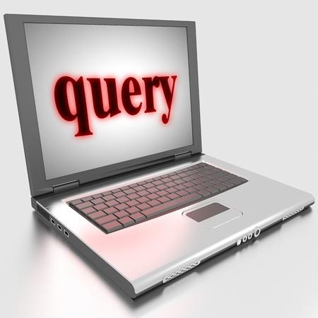 Palabra hecha en la computadora portátil en 3D
