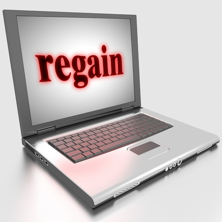 regain: Word on laptop made in 3D
