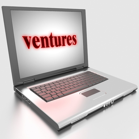 ventures: Word on laptop made in 3D