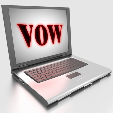 Word on laptop made in 3D Stock Photo - 13397621