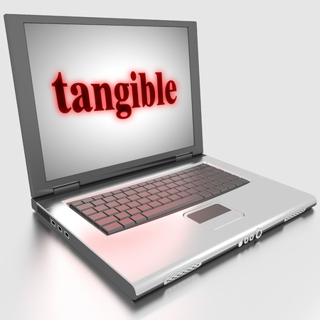 tangible: Word on laptop made in 3D