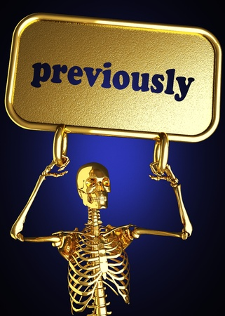 previously: Golden skeleton holding the sign made in 3D