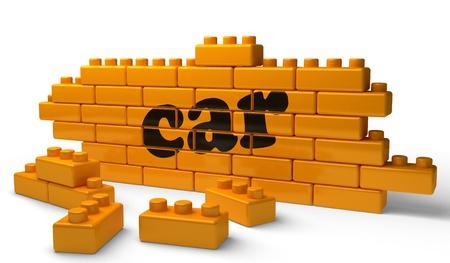 Word on yellow wall Stock Photo - 15340568