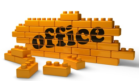 Word on yellow wall Stock Photo - 15371769