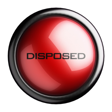 disposed: Word on the button