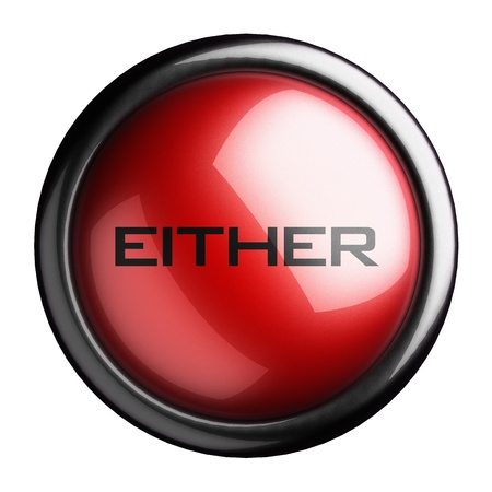 either: Word on the button