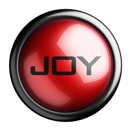 glädje: Ord på knappen Stockfoto