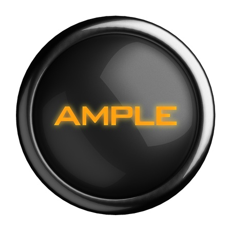ample: Word on black button