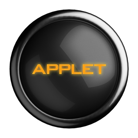 applet: Word on black button