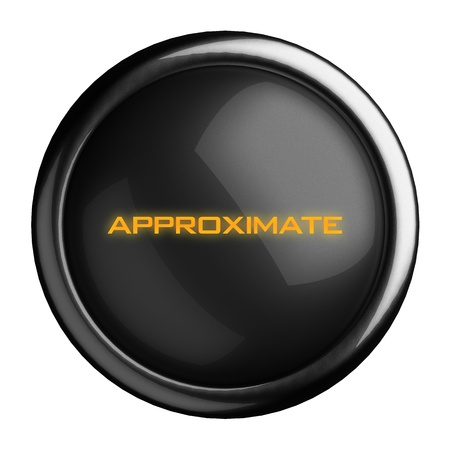 approximate: Word on black button