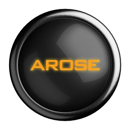 arose: Word on black button