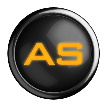 Word on black button Stock Photo - 15633750