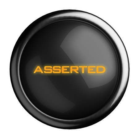 asserted: Word on black button