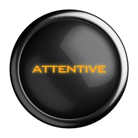 Word on black button Stock Photo - 15629397