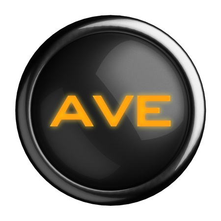 ave: Word on black button