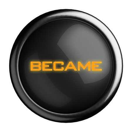 became: Word on black button