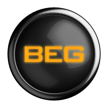 Word on black button Stock Photo - 15633754