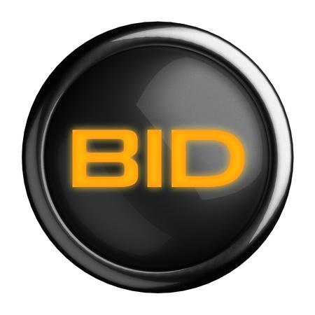 Word on black button Stock Photo - 15633752