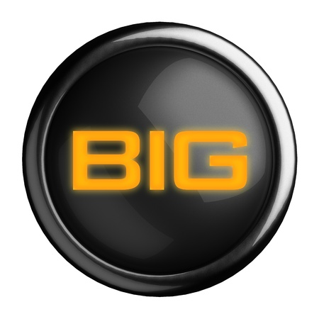 Word on black button Stock Photo - 15633748