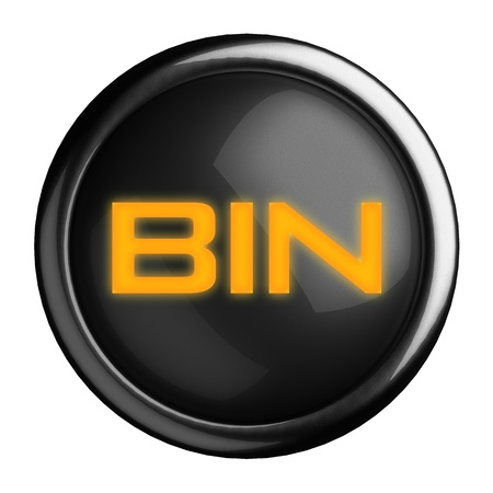 Word on black button Stock Photo - 15633753