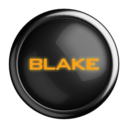 blake and white: Word on black button