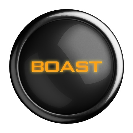 boast: Word on black button