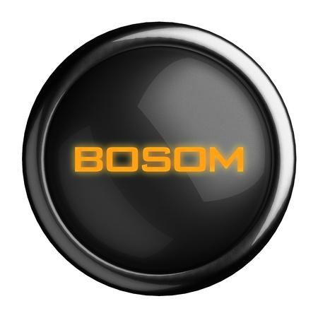 bosom: Word on black button