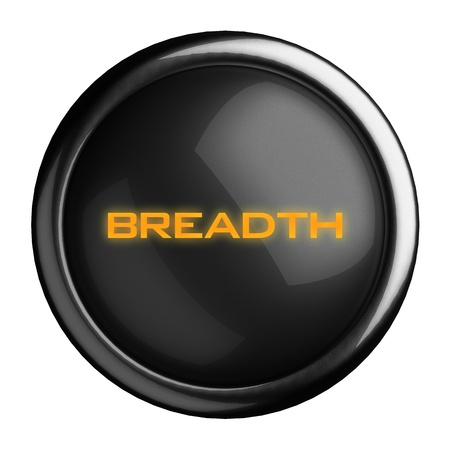 breadth: Word on black button