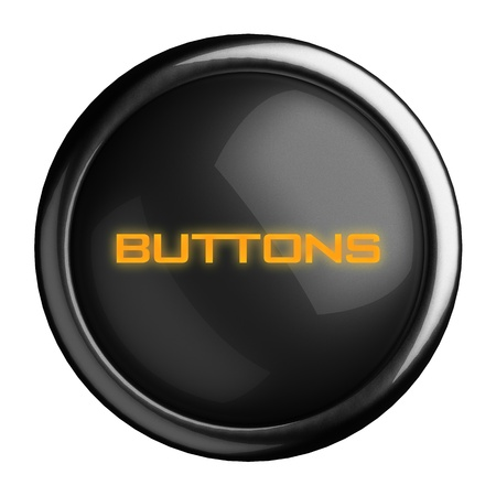 pushing the button: Word on black button
