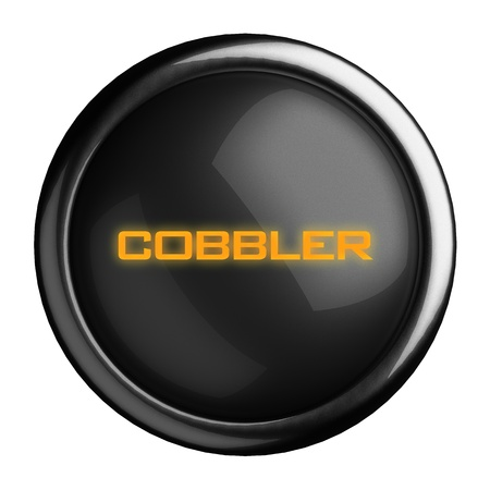 cobbler: Word on black button
