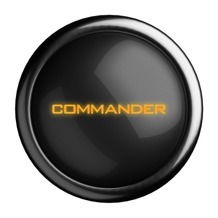commander: Word on black button