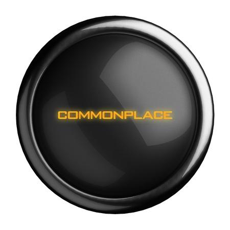 commonplace: Word sul pulsante nero