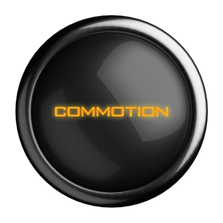 commotion: Word on black button