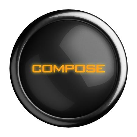 Word on black button Stock Photo - 15639167