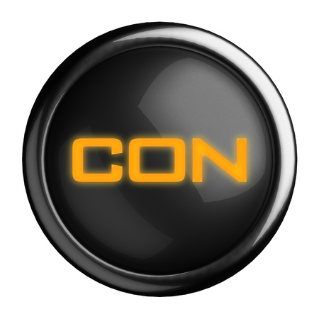 con: Word on black button